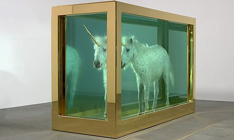 A powerful symbol of Cornwall's mythical lore ... Damien Hirst's unicorn, The Child's Dream.