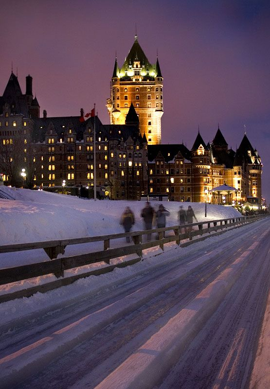 Carnaval in Quebec City | Ice sliding near Chateau Frontenac