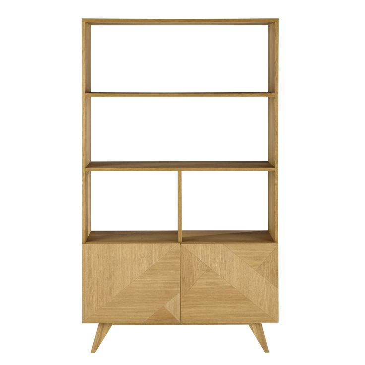 Bücherregal aus Holz, B 110cm Origami