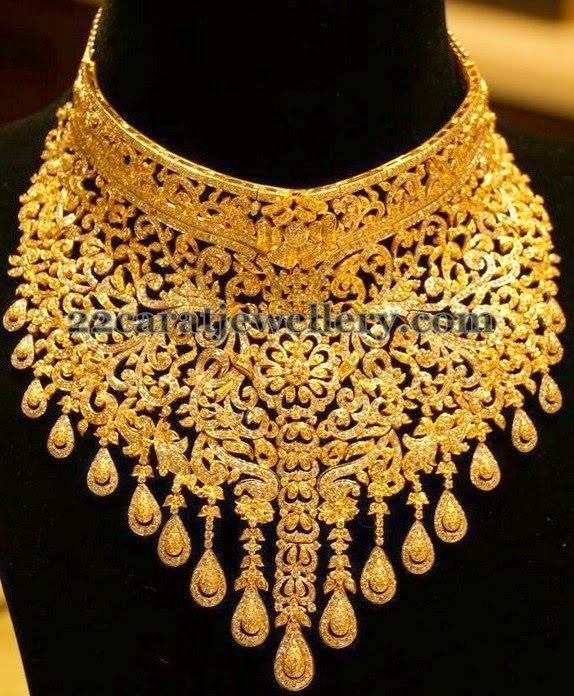 Jewellery Designs Manepally Tremendous Diamond Choker