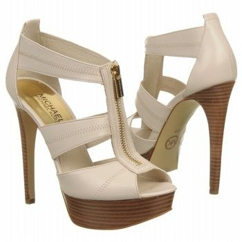 * Walking in Style * / MICHAEL MICHAEL KORS Womens Berkley Platform Vanilla Leather |2013 Fashion High Heels|