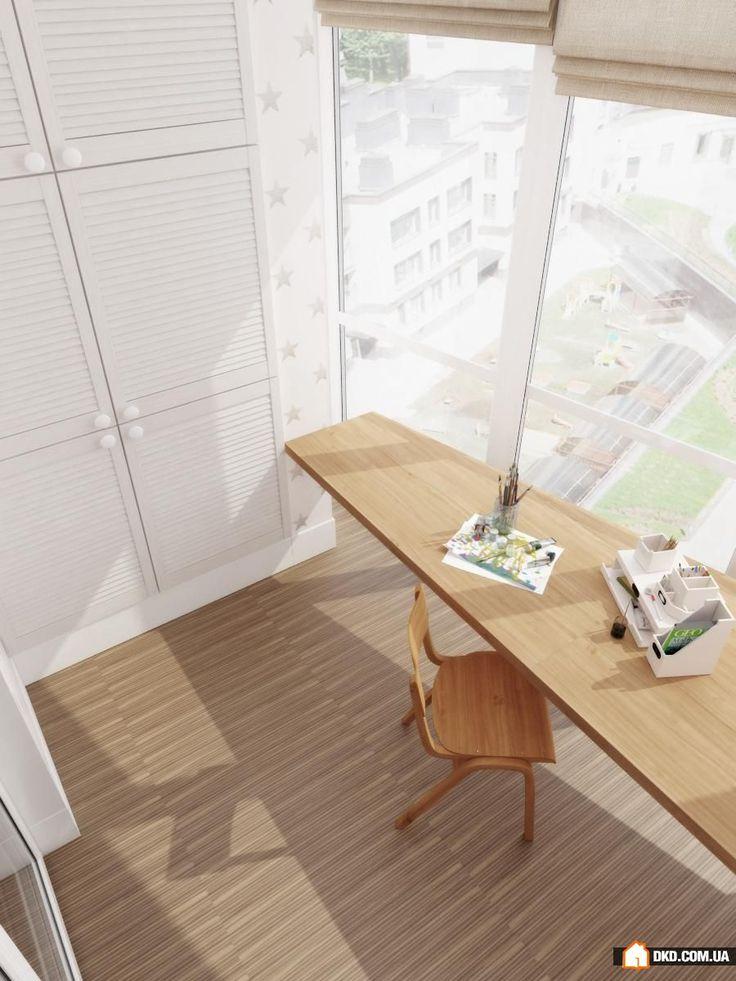 Как обустроить рабочее место на балконе: 3 идеи от дизайнеров