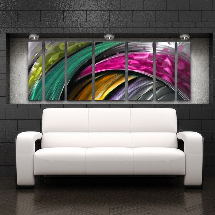 3 Piece Purple Cherry Blossom Muti Panel Abstract Modern: 17 Best Ideas About Abstract Metal Wall Art On Pinterest