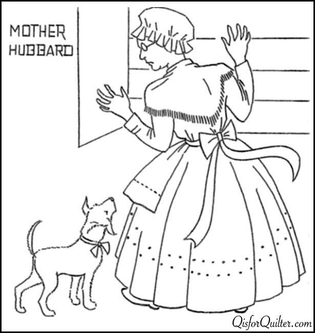 Nursery Rhyme Embroidery Mother Hubbard