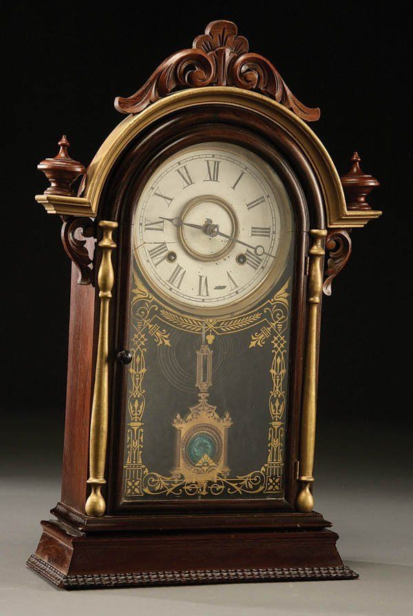 Victorian Rosewood shelf clock
