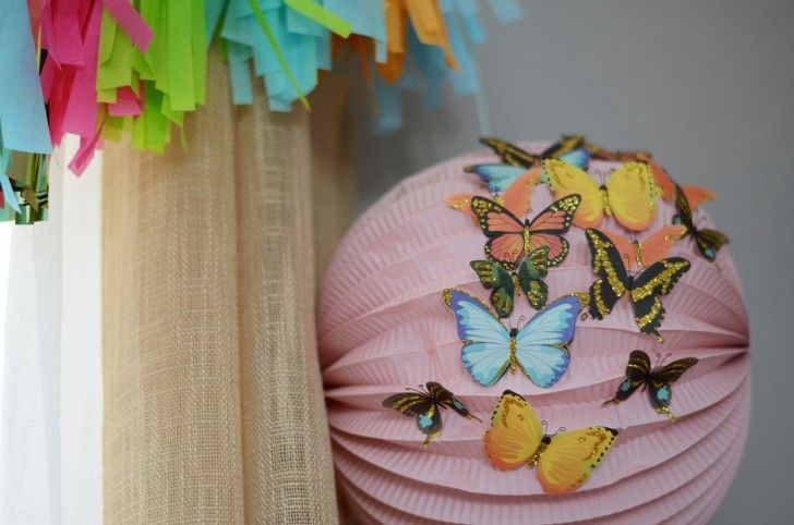 See these beautiful butterfly birthday party ideas from @mamaandbabylove using @peartreegreet kids birthday invitation to set the theme for the party!