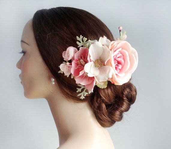 Wedding Hair Flowers Pink : Best images about hair accessories on your