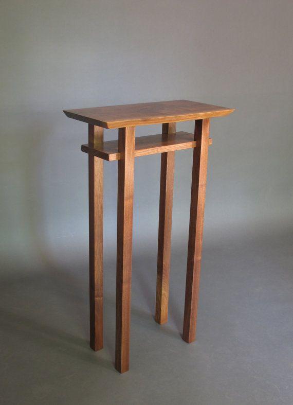 Live Edge Entry Table: Handmade Custom Wood Furniture