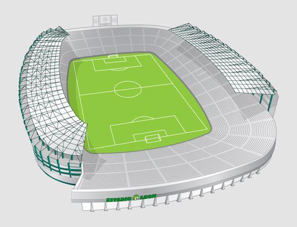 Estadio Leon Infographic by Julio Aldana, via Behance