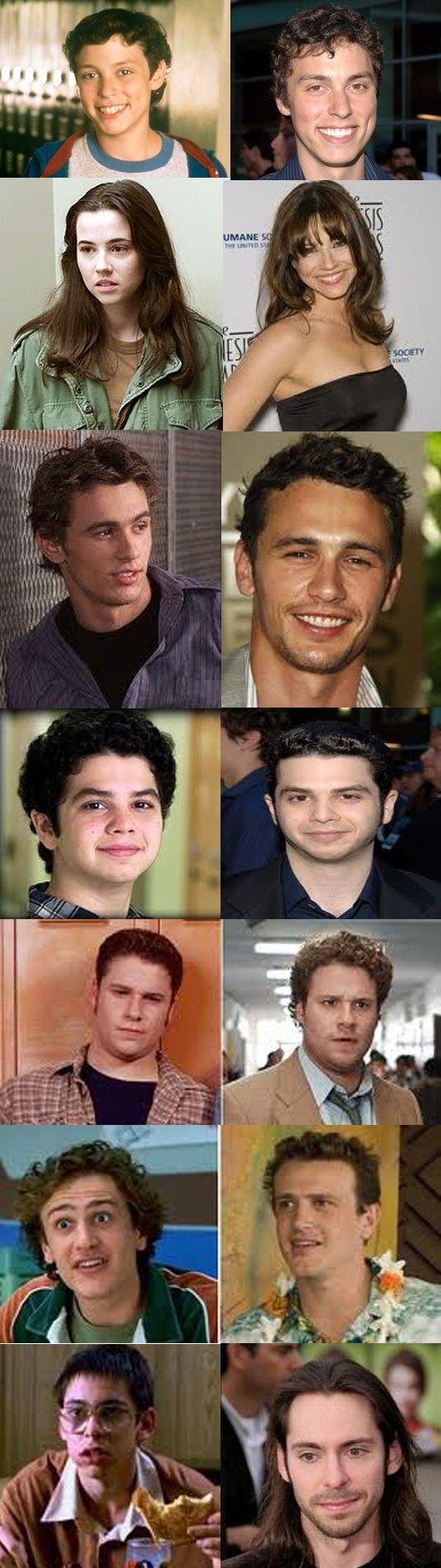 freaks and geeks then & now.......who is the guy at the top? i know him from somewhere