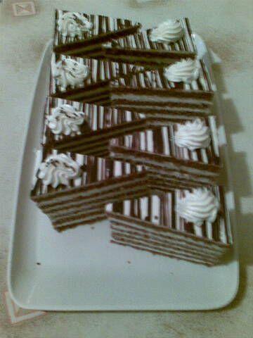 Čokoládové rezy s vanilkovým krémom