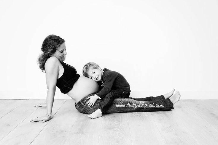 photo grossesse mère enfant