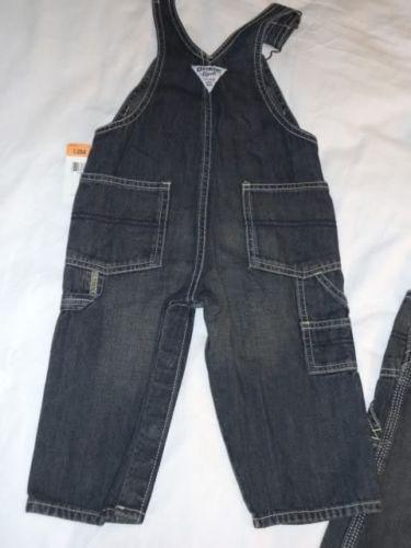 Boys-OshKosh-Latzhose-size-12M-overall-conductor-bib-Set-Polo-Bodysuit-12M-NWT