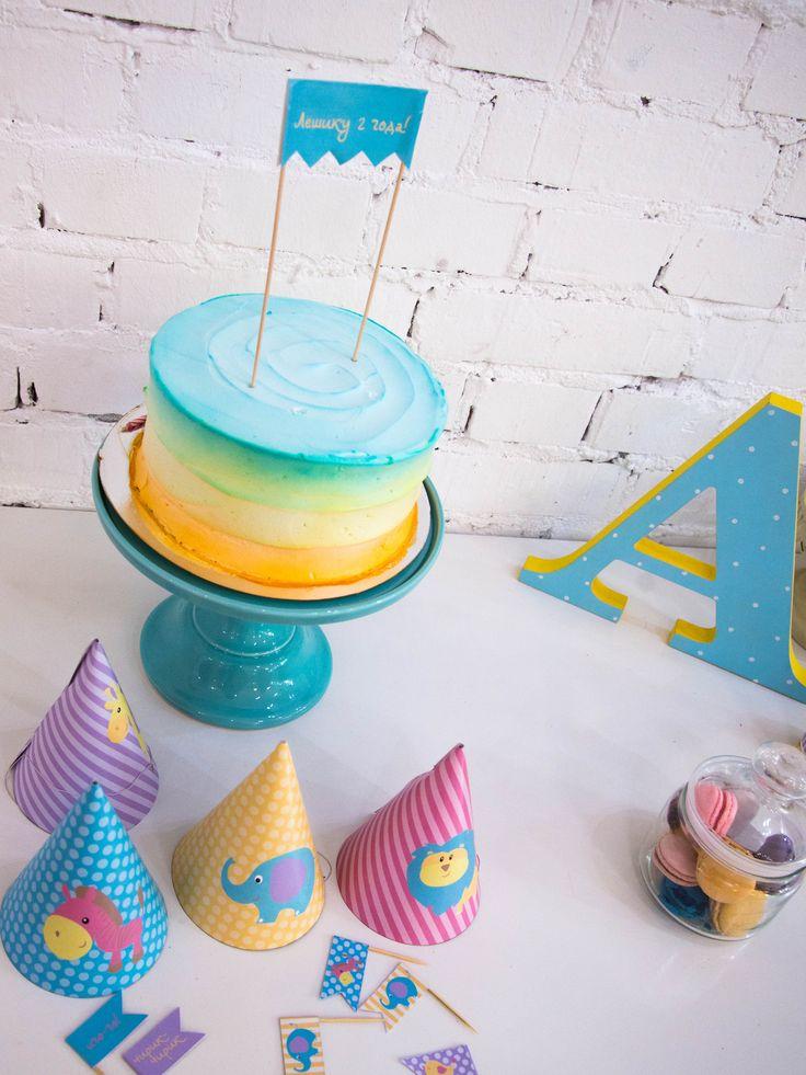 Birthday party FUNNY ZOO колпачки. верхушки для капкейков, растяжка в торт