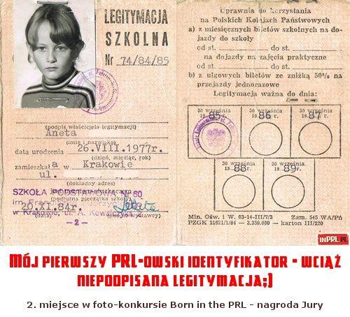 Mój pierwszy PRL-owski identyfikator - wciąż niepodpisana legitymacja;)