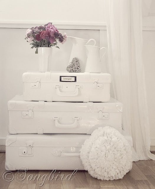painted suitcases