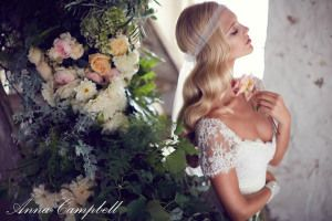 Anna Campbell's wedding dress collection 'Forever Entwined' sees the incorporation of laces, exclusive, hand-designed embellishments and fitted silhouettes.