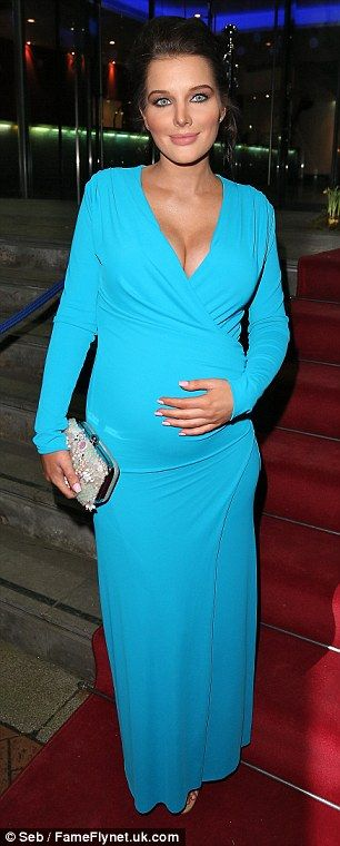 In good company: Pregnant Helen was joined at the event by former Coronation Street co-sta...