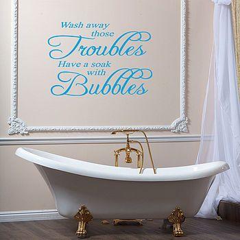 Bathroom Wall Art Stickers