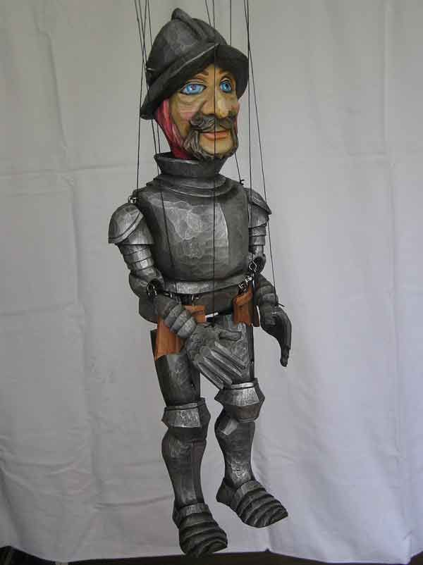 """VSG s.r.o. """"Czech Puppets"""" :: Wood marionettes :: The Knight , marionette"""