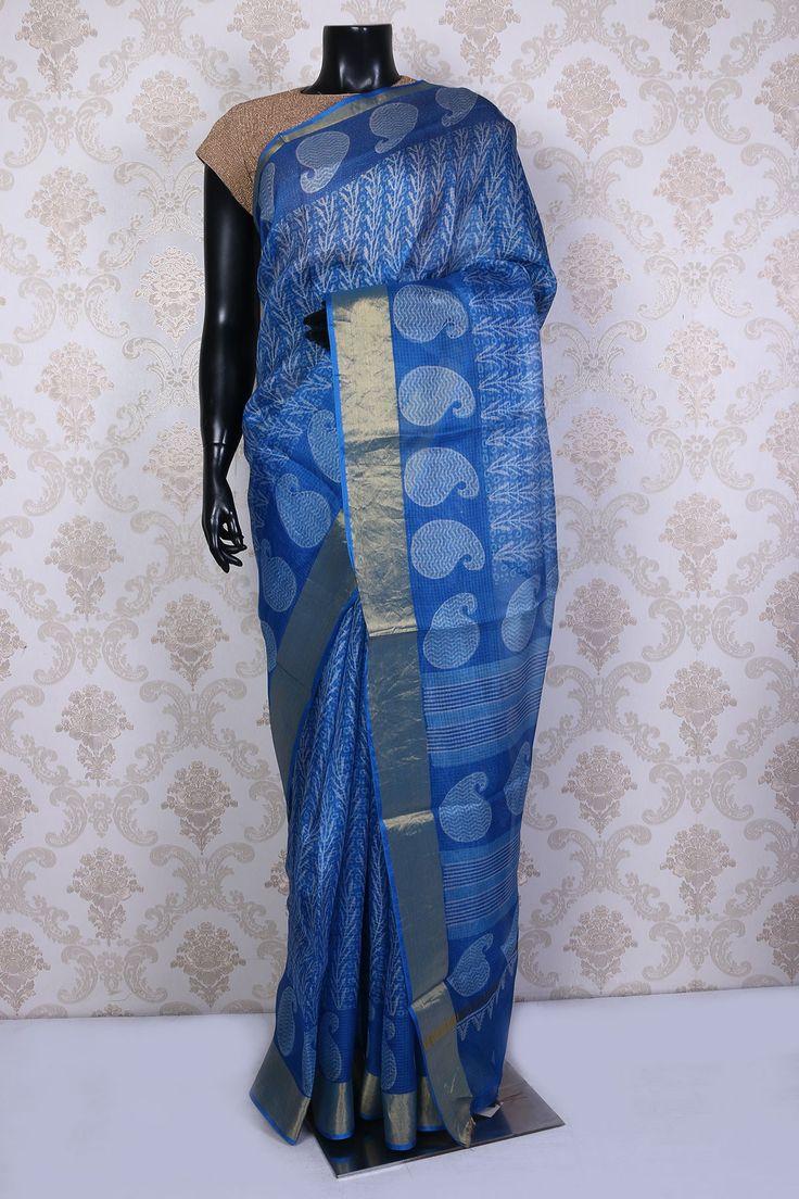Off white tussar silk saree white u black tussarsilk alluring saree with gold border sr