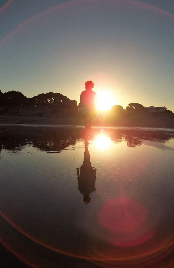 Sunset on the beach. By Christy-Lynn Breetvelt