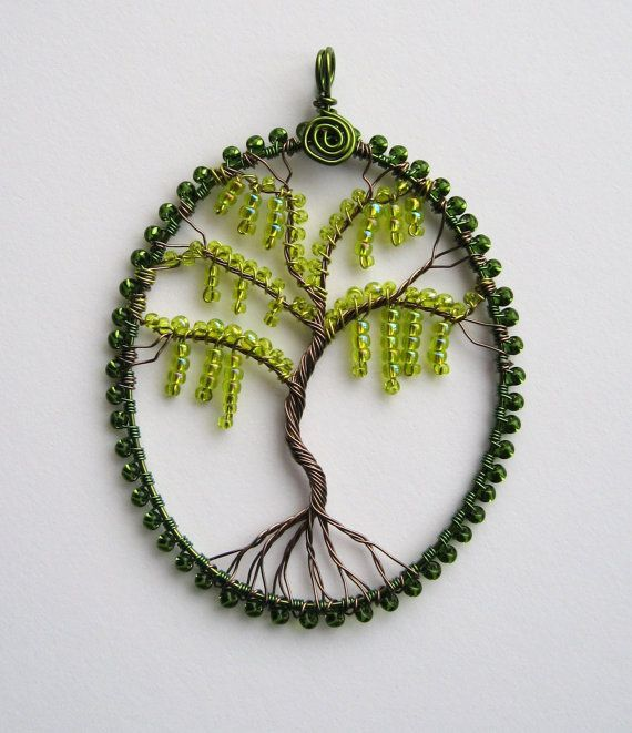 Spanish Moss wire wrapped pendant by LouiseGoodchild on Etsy