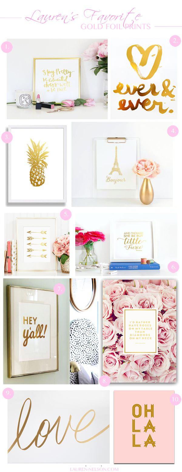 Gold Foil Prints