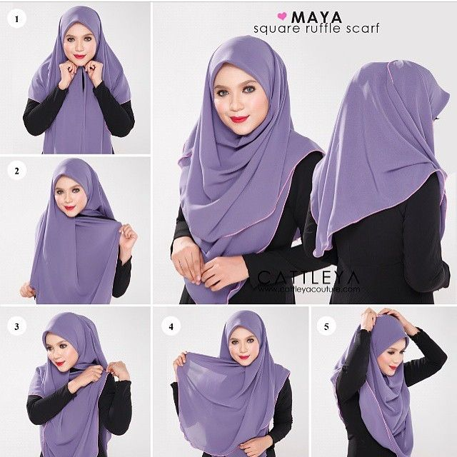 This is a square hijab with ruffles all arounf, it's a great choice for summer days but also for special occasions wear, the ruffles will give an elagant and stylish look to your outfit. To get this look, follow the…