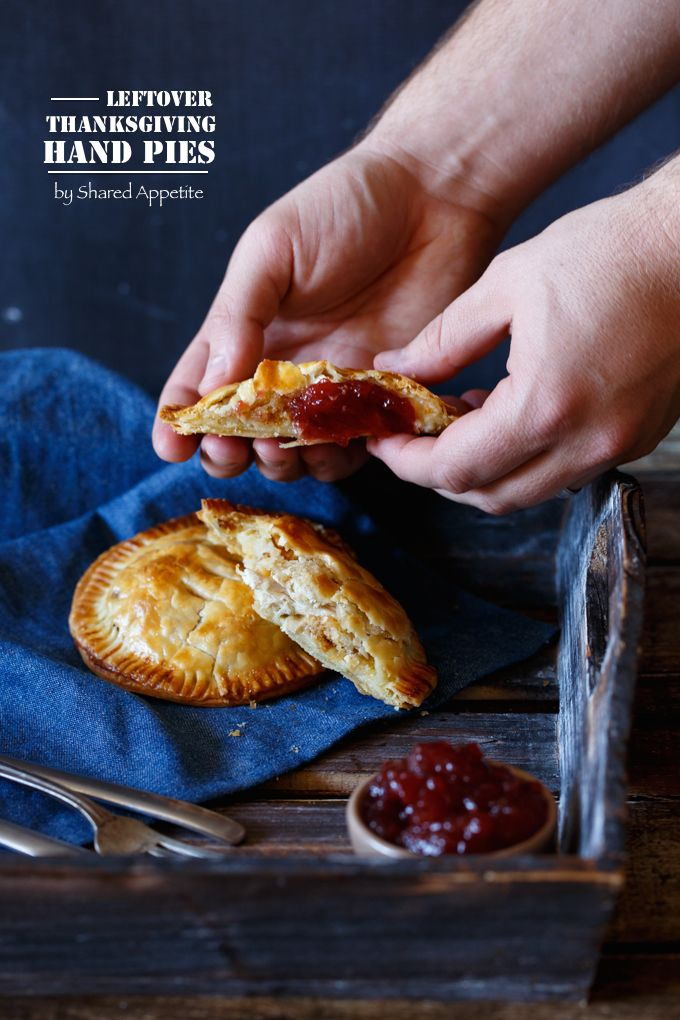 Leftover Thanksgiving Hand Pies -- fill pre-made pie dough with your favorite Thanksgiving leftovers