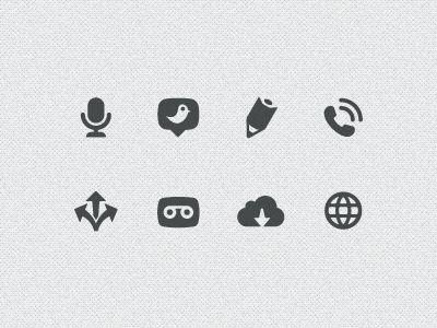 Dribbble - Communication Icons by Scott Dunlap