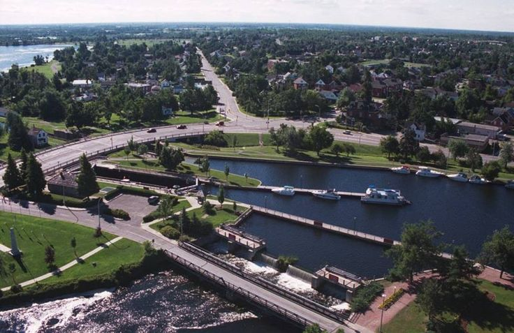 Aerial view of Smiths Falls