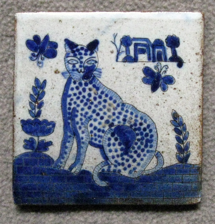 This tile was made by a potter who belongs to a coop of ceramic artists in the town of Patamban, Michoacan.