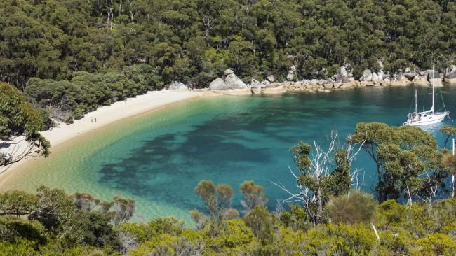 Refuge Cove in Wilson's Promontory offers white sand and clear water - Victoria, Australia