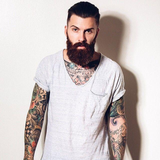 92 best tattoos images on pinterest tattooed man beard for Red beard tattoo