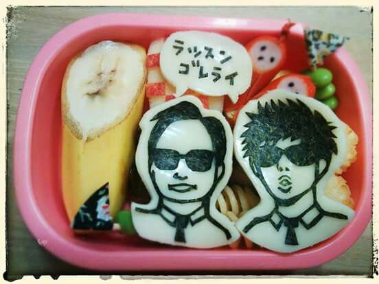 "Japanese popular comedians. Find out  more character bentos on Facebook site ""Cool& Kawaii Character Bento""!!"