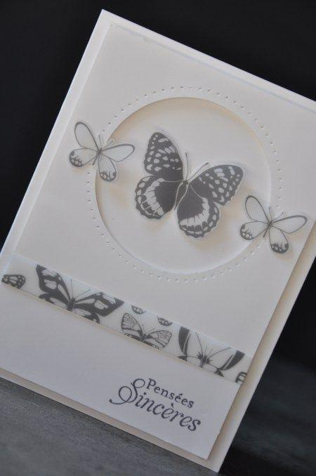 Carte de condoléances par Marie Meyer Stampin up - http://ateliers-scrapbooking.fr/