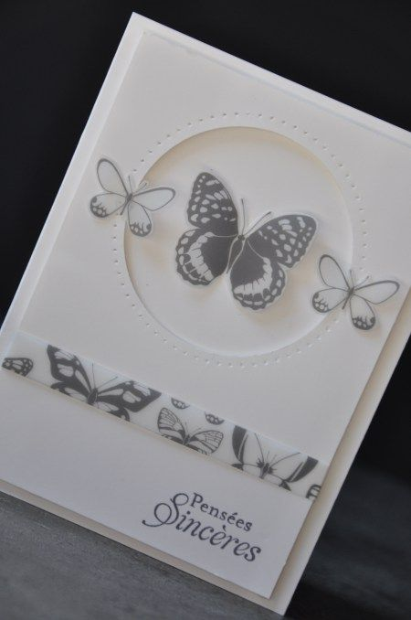 Carte de condoléances par Marie Meyer Stampin up - http://ateliers-scrapbooking.fr/                                                                                                                                                                                 Plus
