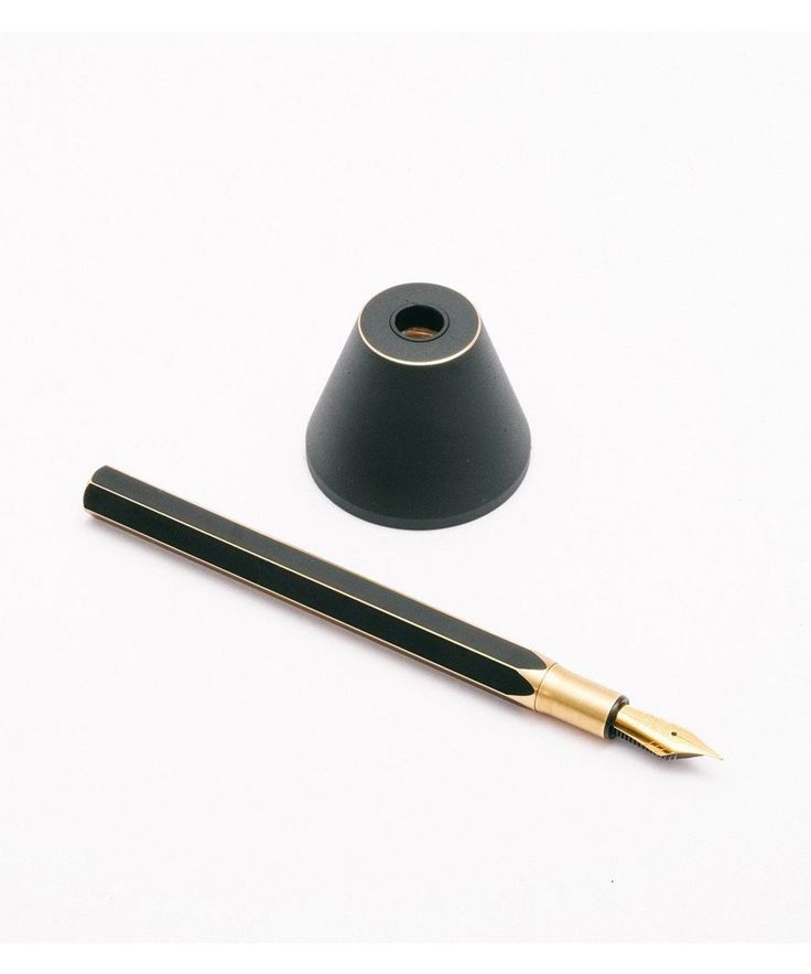The Ystudio DeskFountain Pen is a flawless and delicate pen, finely crafted from brass and then given a black finish and presented in a handsome wooden presentation box. Inside, you will find a lovely rice paper booklet introducing the product with instructions on how to use, refill and look after your pen. Comes with a solid pen holder that can also be used as a paperweight, an elegant accessory for your desk. A personalised brassing effect can be created using the glasspaper sheet also…