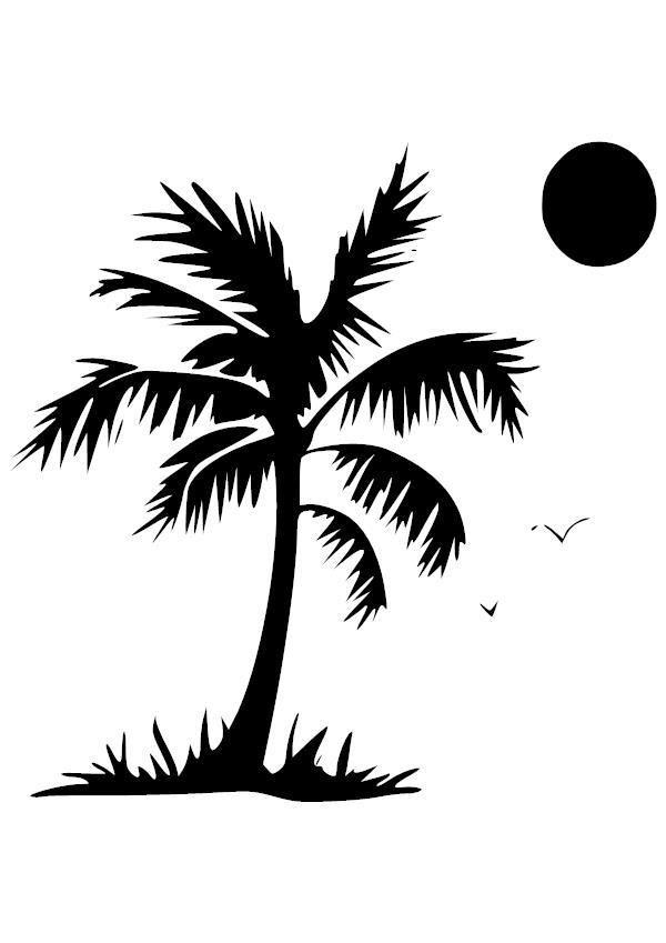 Palm Under Sun Vinyl Decal