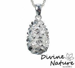 """Cone""  Massive sterling silver pendant set with a black cubic zirkonia."