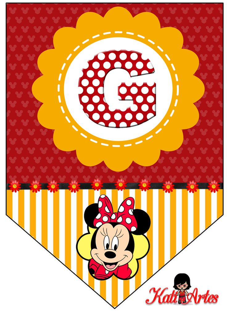 Oh my Alfabetos!: Banderines de Minnie.