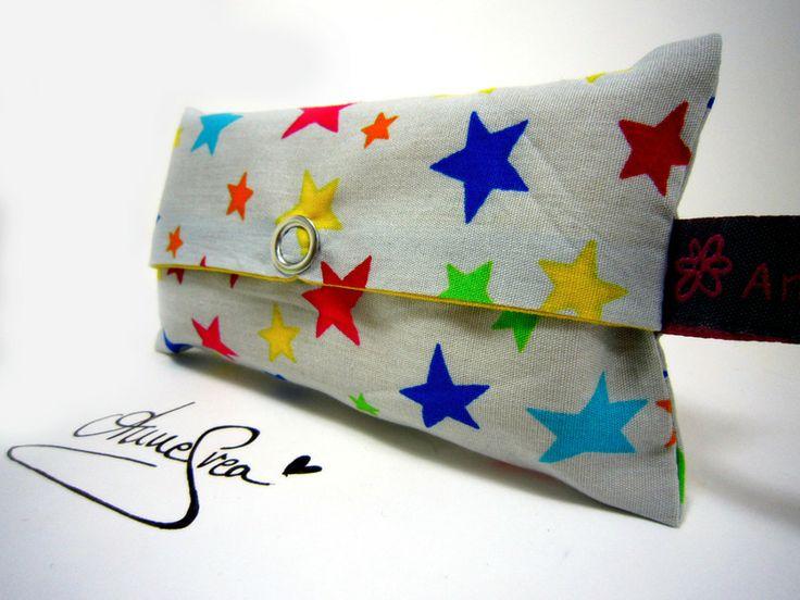 Taschentuch Tasche STERNE Wichtelgeschenk Tatüta von www.annesvea.de
