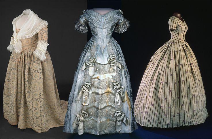 Платья жен президентов США, Марты Вашингтон, Сары Полк иМэри Линкольн
