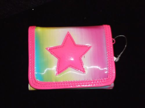 New Hologram Color Changing Star Wallet Tri Fold Coolstuff2cheap Neon Pink | eBay