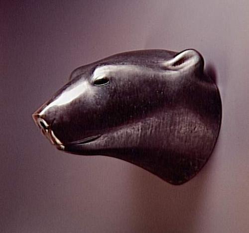 Tête d'ours blanc - Pompon