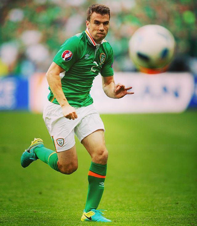 Everton's Seamus Coleman provides the assist for Republic of Ireland's first goal at