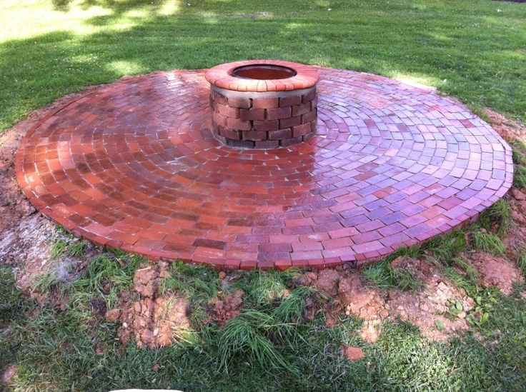 Reuse Old Bricks for Outdoor Firepit | Fire & Flames ...