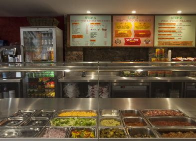 Our counter filled with fresh and healthy ingredients, all prepared in our kitchen