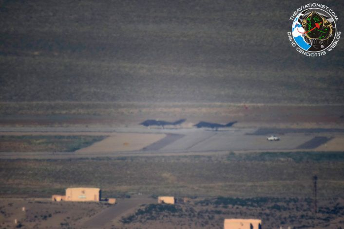 """The Aviationist » Watch two F-117 stealth jets fly over Nevada together….8 years after """"retirement"""""""